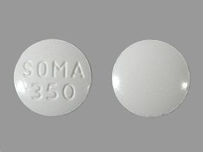 What is a white round pill with