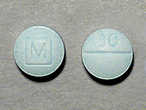 percocet 30 mg light blue.